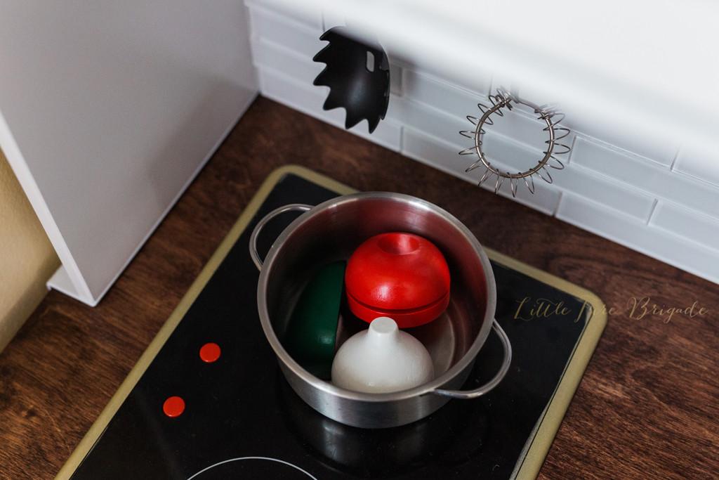 Duktig ikea play kitchen makeover diy project wear love wanders - Ikea duktig play food ...